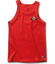 Grizzly Chris Joslin OG Pocket Bear Tank, Red