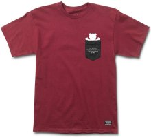 Grizzly Credits Pocket Tee, Burgundy