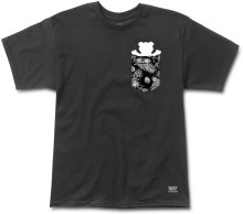 Grizzly Crop Pocket Tee, Black