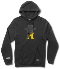 Grizzly Cutout Bear Hoodie, Black