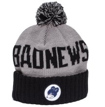 Grizzly Down and Dirty Pom Beanie, Grey