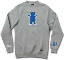 Grizzly Draft Pick OG Bear Crewneck, Heather Grey