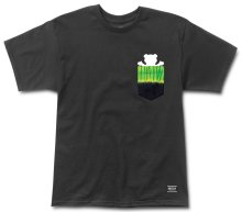 Grizzly Fire Tie-Dye Pocket Tee, Black