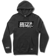 Grizzly Hot Box Logo Stamp Hoodie, Black