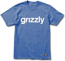 Grizzly Lowercase Logo Tee, Royal Heather