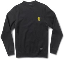 Grizzly OG Bear Embroidered Crew, Black