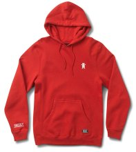 Grizzly OG Bear Embroidered Hoodie, Red