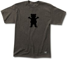 Grizzly OG Bear Logo Tee, Granite Heather