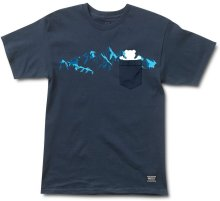 Grizzly Rescue Peak Pocket Tee, Navy