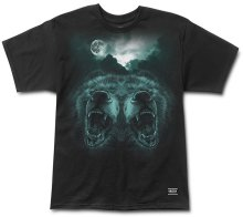 Grizzly Roar at the Moon Tee, Black