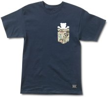 Grizzly Trail Map Pocket Tee, Navy