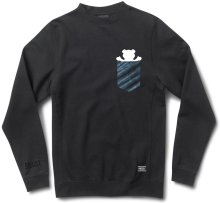 Grizzly Tie-Dye Pocket Crew, Black