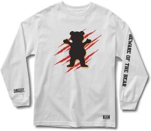 Grizzly Wound OG Bear LS Tee, White