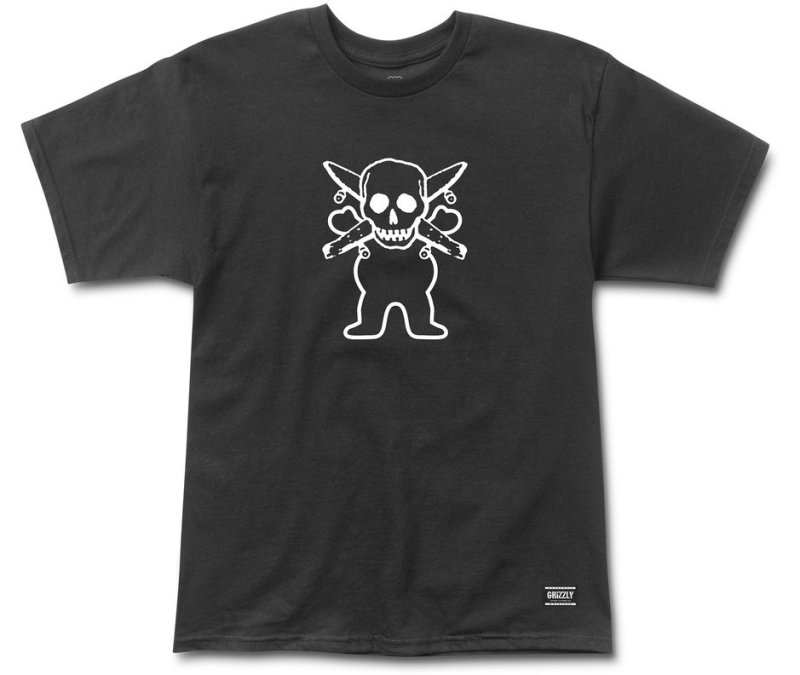 Grizzly x Fourstar Collab Tee, Black