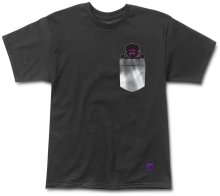 Grizzly X Hendrix Jimi Bear Pocket Tee, Black