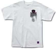 Grizzly X Hendrix Jimi Bear Pocket Tee, White