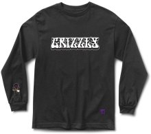Grizzly X Hendrix Long Sleeve Tee, Black