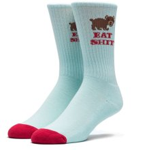 HUF Bear Cute Socks, Teal Red