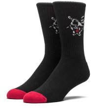 HUF Big Cat Socks, Black Red