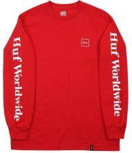 HUF Domestic LS Tee, Red