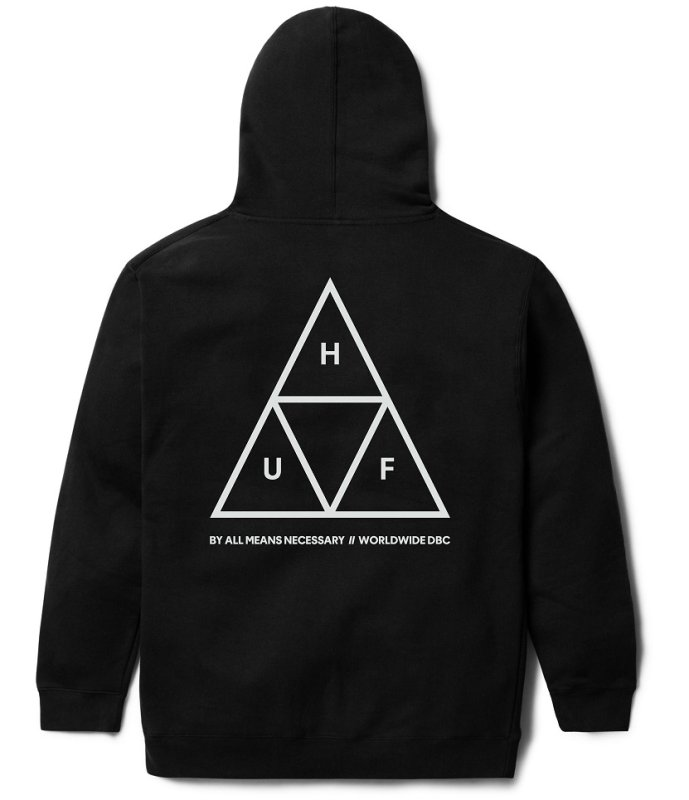 24dffae95959d HUF Triple Triangle Hoodie, Black | SK8 Clothing Canada