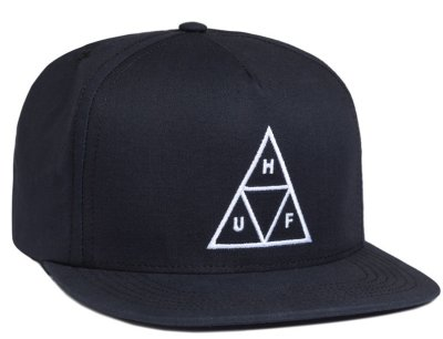 HUF Triple Triangle Constructed Snapback, Navy