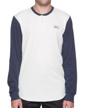 HUF Clubber Henley, Navy off White