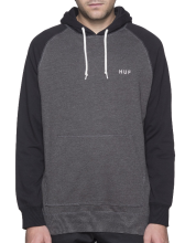 HUF Dalton Pullover Hoodie, Black Charcoal