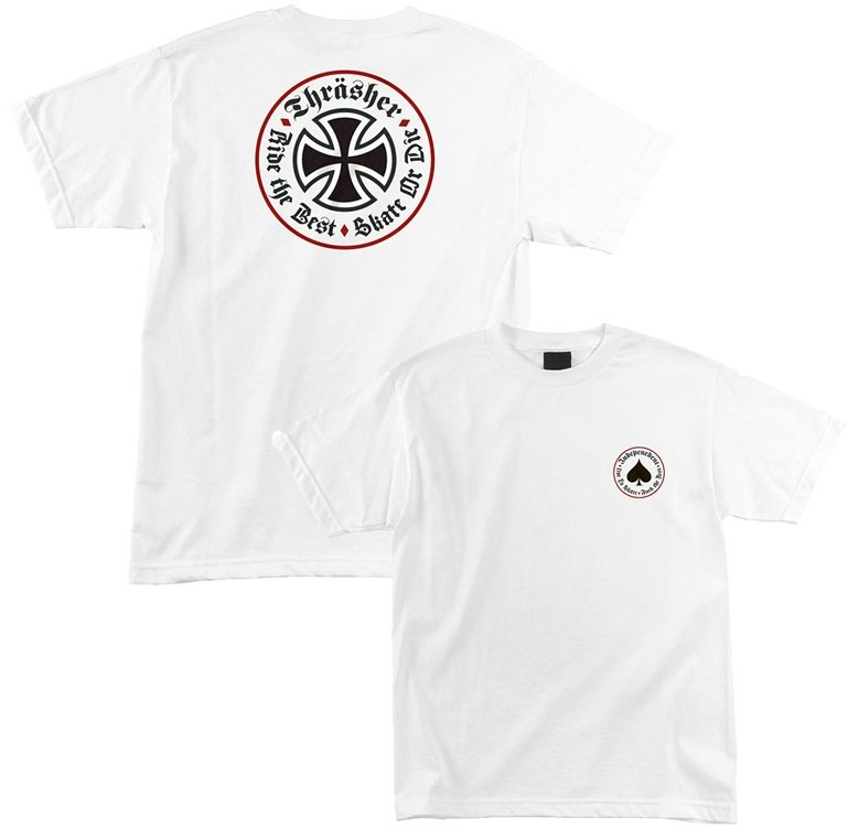 09c18f31d10e Independent x Thrasher Oath Tee, White | SK8 Clothing Canada