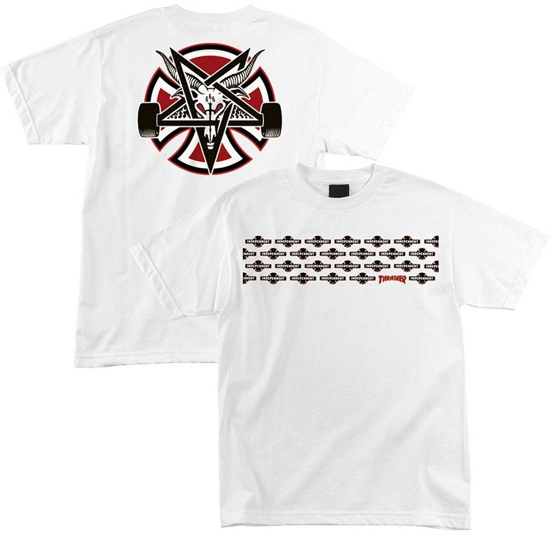 2a48b1eec53d Independent x Thrasher Pentagram Cross Tee, White | SK8 Clothing Canada