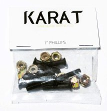 "Karat Hardware 1"" Black Phillips"