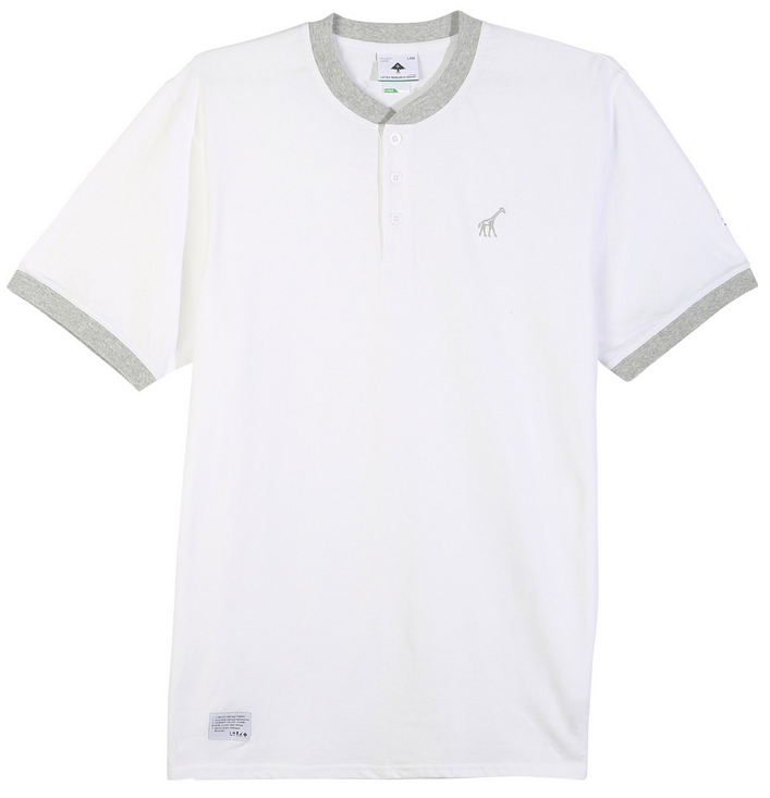 be2589492 LRG Above The Crowds Henley Tee, White | SK8 Clothing Canada
