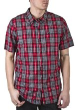 LRG CC Plaid SS Woven, Red