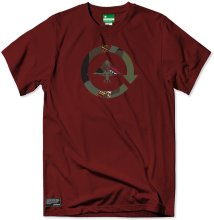 LRG Command Plus Tee, Deep Maroon