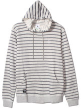 LRG Fairway Stripe Pullover Hoodie, Ash Heather