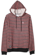 LRG Fairway Stripe Pullover Hoodie, Black Heather