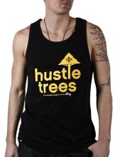 LRG CC Hustle Trees Tank, Black Yellow