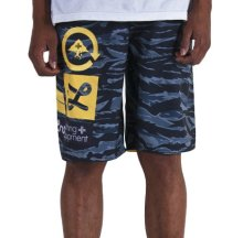 LRG Jungle Boardshorts, Navy Tiger Camo