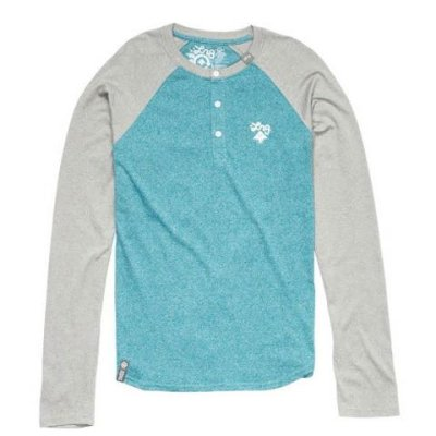 LRG No Pressure LS Henley, Light Teal