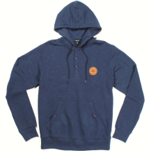 LRG RC Pullover Hooded Henley, Navy