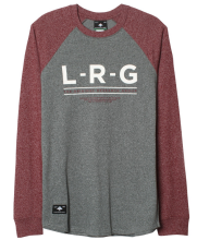 LRG Standard Issue LS Raglan, Charcoal Heather