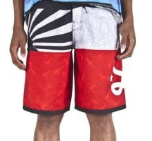 LRG Tri-Country Boardshorts, Black and Red
