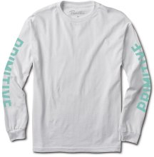Primitive Block LS Tee, White