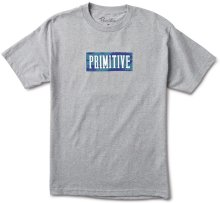 Primitive Brush Camo Box Tee, Heather Grey