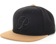 Primitive Classic Canvas Snapback, Black