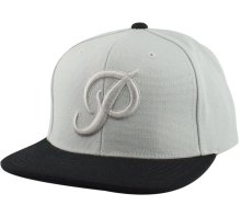 Primitive Classic P Canvas Snapback, Grey Black
