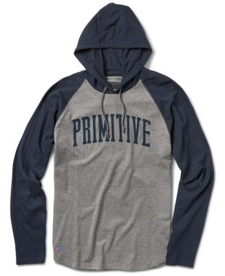 Primitive Collegiate Raglan Popover, Midnight