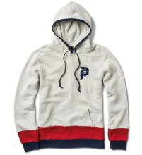 Primitive Down-Bottom Hoodie, Ice Heather