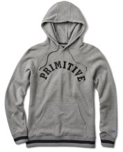 Primitive Ivy League Hoodie, Grey Heather