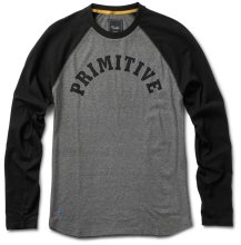 Primitive Ivy League Raglan, Grey Heather